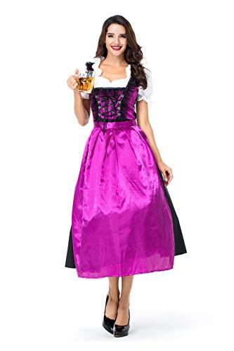 VENIMASEE Frauen Oktoberfest Bier Festival in München Server Halloween Cosplay Kostüm - Bier-server
