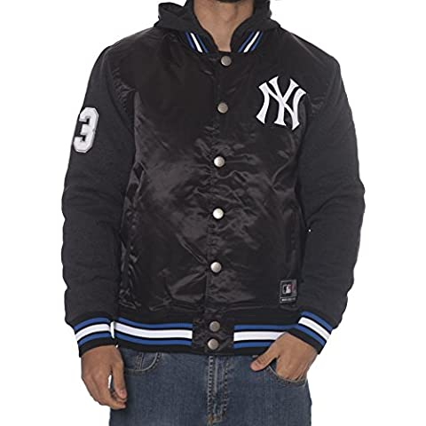Giacca Majestic: Besson Mix Fabric New York Yankees BK/GR S