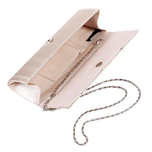 Damara luccicante foreverde fine Satin festa matrimonio stanotte per catene borsa a tracolla Argento (argento) Aclaramiento De 2018 Más Reciente nmhiUQyf