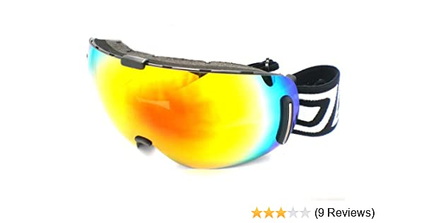 71c7d65026f1 Dirty Dog Goggles 54090 Red Blizzard Frameless Visor Goggles Lens Mirrored  Size  Amazon.co.uk  Sports   Outdoors