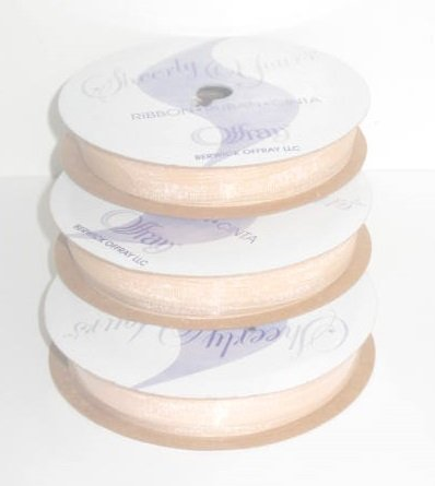 CREAM -SPOOL O'RIBBON SHEER by Offray -