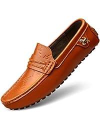 Zapatos Cómodos Para Hombre Ligeros Y Redondos Con Punta Para Hombre Mocasines De Cuero Mocasines Antideslizantes