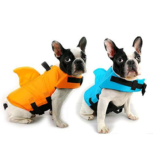 Schwimmwesten für Hunde,Pet Floatation Schwimmweste Dog Lifesaver Preserver Badeanzug mit verstellbarem Riemen und Rettungsgriff