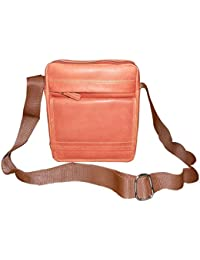 Style98 Genuine Leather Traveller Neck Pouch,Messenger Bag And Passport Sling Bag For Men And Women - Brown