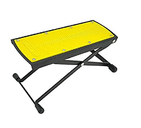 gitarrenfußbank Klassischer Gitarren-Fußschemel schwarz, gelber Gitarren-Pedal-Stahl Falt-Gitarren-Pedal ( Color : Gelb )