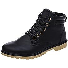 Zapatos de hombre, Manadlian Hombre bajo tobillo Recortar plano de invierno Botas de otoño Casual Martin Zapatos (EU:40, Negro)