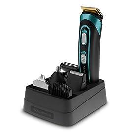 Rowenta TN9130 Trim&Style Grooming Kit 7 in 1 Uomo, Rasoio & Rifinitore Multifunzione per Viso, Barba e Corpo…