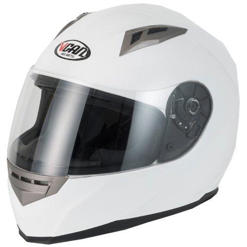 Vcan V158casco de motocicleta, mujer hombre, blanco, 57-58 cm (M)
