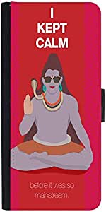 Snoogg Shiva He Kept Calm Designer Protective Phone Flip Case Cover For Xolo One Hd
