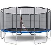 Preisvergleich für Ampel 24 Outdoor Trampolin 490 cm blau komplett mit außenliegendem Netz, Belastbarkeit 180 kg, Sicherheitsnetz mit 12 Gepolsterten Stangen und Stabilitätsring