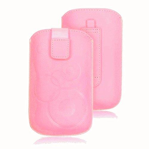 tag-24 Handy Tasche Deko Etui Schutzhülle passend für Doro PRIMO 401 rosa