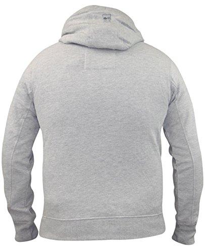 Mens Kreuzschraffieren Marke Pullover Printed Hoody SweaT-con migliori collezioni con cappuccio Meltdown - Mid Grey Marl