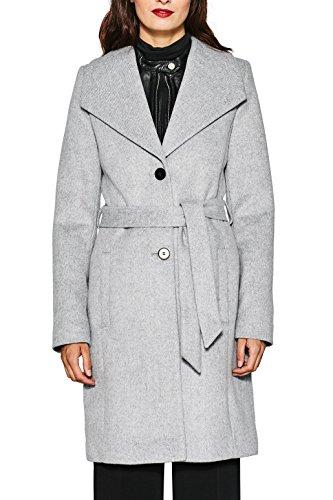 ESPRIT Collection Damen Mantel 087EO1G017, Grau (Light Grey 040), XX-Large (Herstellergröße: 44)
