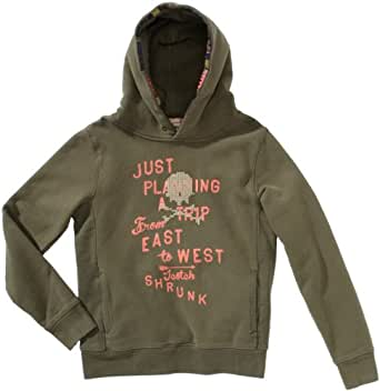 Scotch & Soda Shrunk Jungen Sweatshirt 13440640505 hooded worked out college sweat  Gr. 152  (12), Grün (66 - army )