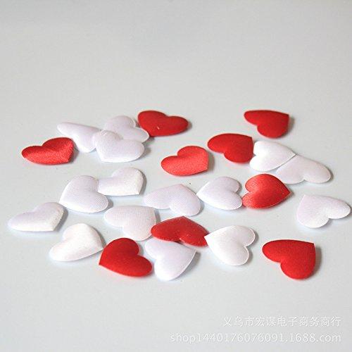 EQLEF® 100 PCS fai da te Bianco Rosso Amore a forma di cuore Spugna petalo per il partito di nozze Matrimonio in camera Crafts Decor