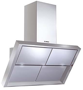 Bosch DWK096750 Monté au mur Argent 740m³/h hotte - hottes (740 m³/h, Conduit / Recirculation, 68 dB, Monté au mur, Argent, 3 bulb(s))