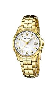 Candino reloj de cuarzo para mujer con blanco esfera analógica pantalla y oro pulsera de acero inoxidable C4535/1 de Candino