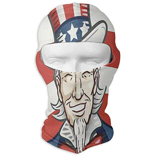 Sdltkhy Balaclava Uncle Sam America Day Full Face Masks UV Protection Ski Cap Womens Headwear for Outdoor Unisex5