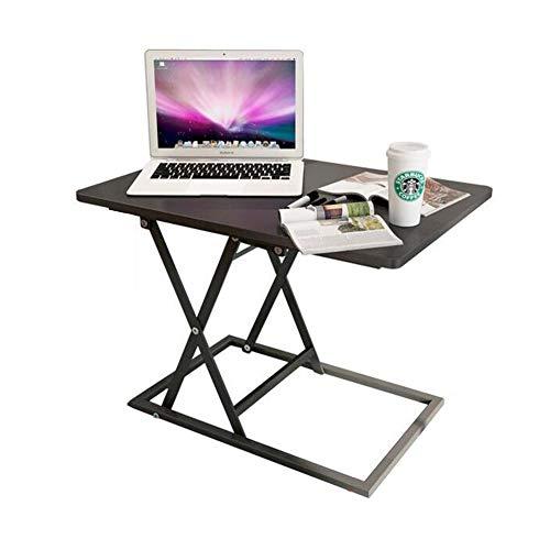 Tables CJC Pliable Permanent Bureau Supporter Up Asseoir Supporter Convertisseur Portable des Stands Moniteur PC Bureau Ergonomique (Couleur : Noir)