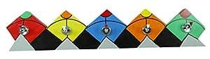 Tinny Mehrzweck Hölzerne Wand Kite Design Flaschenhalter mit 5 Stahl Haken