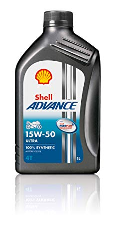 Shell - Advance 4T 15 W-50 Ultra Pure Plus Technology - Olio per motore 100% sintetico - 1 Litro