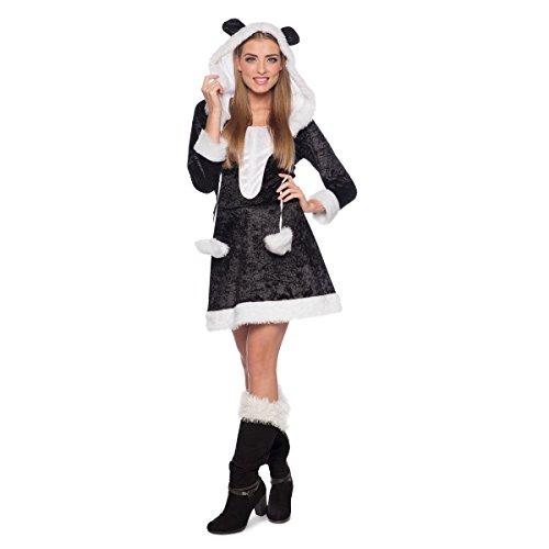 Kostüm Womens Bär Panda - Folat 64033 Tieranzug mit Schwanz Panda, Damenkleid, womens, S/M: 36/38