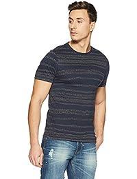 LP Jeans By Louis Philippe Men's Solid Slim Fit T-Shirt - B078HLK4ZP