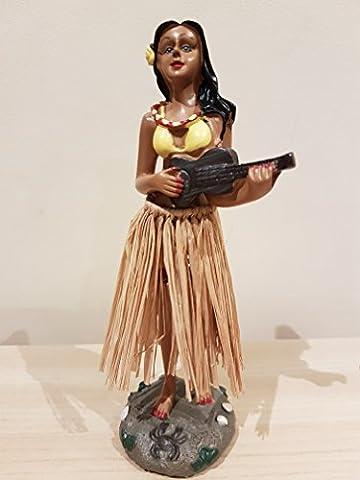 Traditional Wobbly dashboard Hula Girl with ukulele
