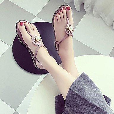 LvYuan Sandali-Formale Casual-Comoda-Piatto-PU (Poliuretano)-Nero Verde Rosa Pink