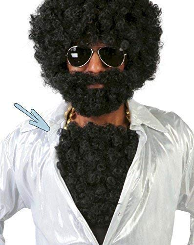 Fancy Me Herren Falsch Schwarz Lockig Brust Haare Comedy Lustig Junggesellenabschied Junggesellenabschied Behaarte Brust 70's Jahre Seventies Kostüm Verkleidung - Behaarte Brust Kostüm