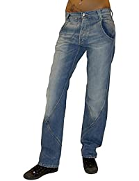 Diseño de pantalón vaquero para mujer pantalones vaqueros Met baggy pantalones de Hip Hop pantalones de diseño colour azul
