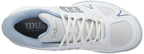 WILSON 97512285, Scarpe da Tennis Donna Multicolore (White/White/Cashmere Blue)