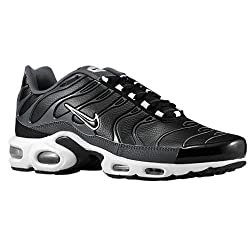 Nike Men's Air Max Plus Black / Black / Dark Grey / White Synthetic Cross-Trainers Shoes 9 M US