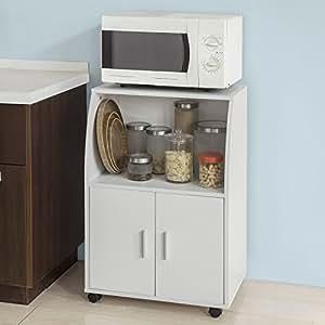 Sobuy mobiletto per forno a microonde carrello da cucina credenza con route frg241 w it - Mobiletto cucina amazon ...