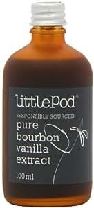 LittlePod Pure Bourbon-Vanille-Extrakt, vegan, koscher, glutenfrei, 1er Pack (1 x 100ml)