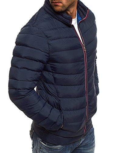 OZONEE Herren Winterjacke Steppjacke Sweatjacke Wärmejacke Jacke Parka Gesteppt J.BOYZ 1010K Dunkelblau_JB-1010K_KU