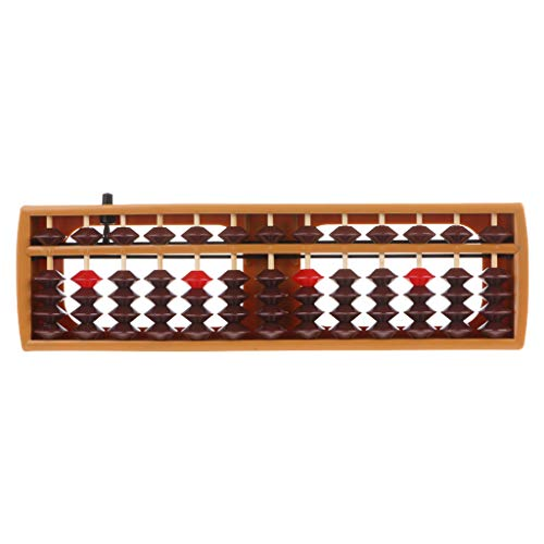 zrshygs Child Abacus Portable Japanische 13-stellige Spalte Abacus-Arithmetik Soroban Caculating School Math Learning Tool BN