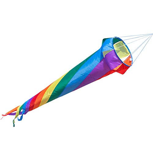 CIM Windsack - Windturbine 150 Rainbow - UV-beständig und wetterfest - Ø35cm, Länge: 150cm - inkl. Kugellagerwirbelclip