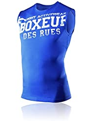 BOXEUR DES RUES Serie Fight Activewear, Canotta Uomo, Royal, L