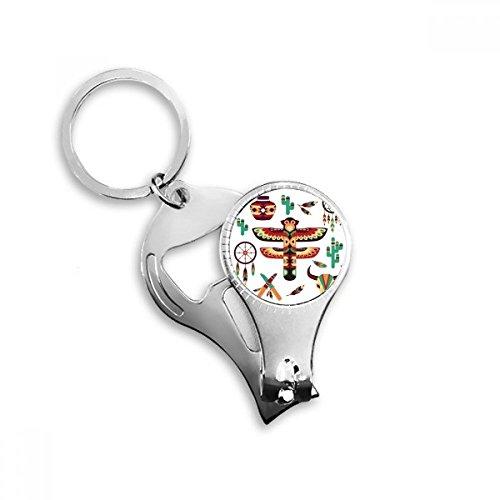 Native American Dream Catcher cerámica Indian Totem sacrificio Metal clave cadena anillo multifunción Nail Clippers abrebotellas llavero de coche mejor encanto regalo