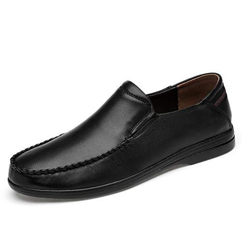 YIJIAN-SHOES Herren Oxford Schuhe Herren Oxford Lässige Mode Komfortable Leichte Weiche Slip Formale Schuhe Kleid Oxford Schuhe (Color : Schwarz, Größe : 46 EU) Formale Slip