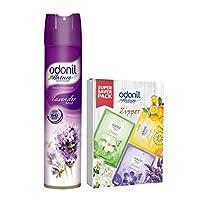 Odonil Room Spray - 200 g (Lavender Mist) with Air Freshener Zipper (Pack of 3)