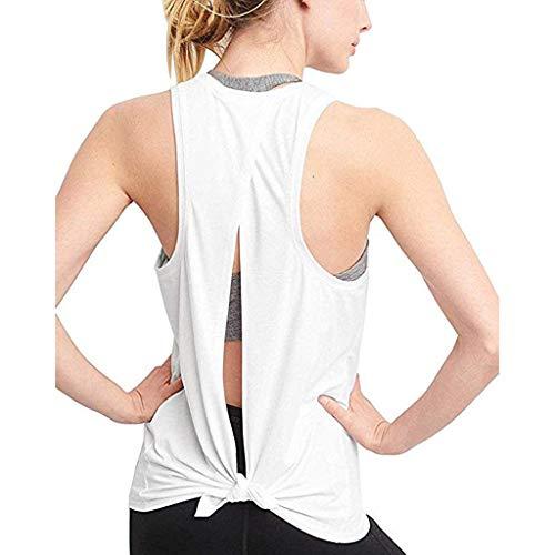 fb50b6e8ca82 COOLIY Backless Yoga Magliette Eleganti Camicia Sexy Sport Fitness T Shirt  Donna Cami Crop Top con