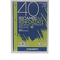 Blasetti 2331 40+1 Ricambi rinforzati, A4 , Righe 1R, 80 gr