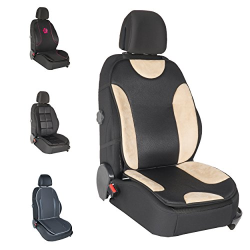 DBS - Couvre Siège - Voiture/Auto - Beige - Confort - Antidérapant - Compatible Airbag - Universel