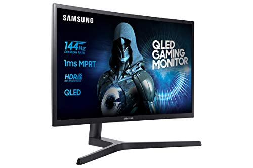 Samsung C32HG70 Monitor per PC Desktop Curvo VA da Gaming 32'' WQHD, 2560 x 1440, HDR, 144Hz, 1ms, 1 Display Port, 2 HDMI, Blu Scuro/Grigio