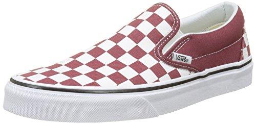 Vans Unisex-Erwachsene Classic Slip-On Sneaker Rot (Checkerboard)