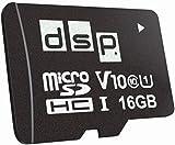 DSP Memory 16GB MicroSD 5.0 SDHC Speicherkarte, C10, U1, V10 + SD-Adapter