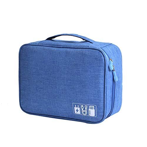 Kabel-Organizer-Taschen, Elektronik-Zubehör, Kabel-Organizer, Reise-Gadget-Taschen für USB, Ladegerät, Kabel, Festplatte, Powerbank, iPad blau - Blau Ladegerät Ipod Kabel