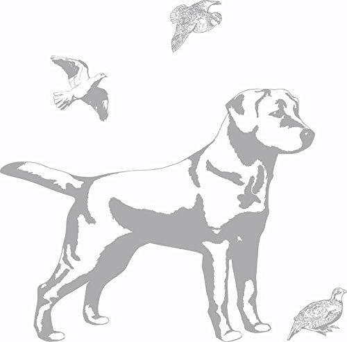 Borders Unlimited Wand Aufkleber Schattenmotiv Labrador -